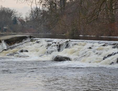 dam Roznov on river Vltava, South Bohemia, Czech Republic