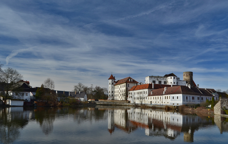 the historical castle complex, the town of Jindrichuv Hradec, the southern Bohemia, the Czech Republic Editorial