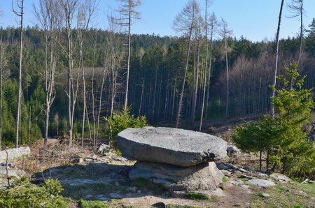 natural curiosity, a stone table, South Bohemia, Czech Republic