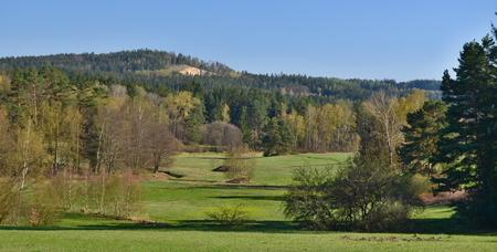 spring landscape, southern Bohemia . Czech Republic Reklamní fotografie - 122686622