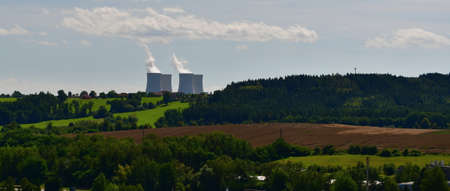 View of the nuclear power plant, Czech Republic