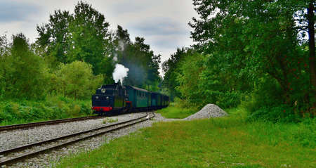 unique historic narrow-gauge railway. South Bohemia
