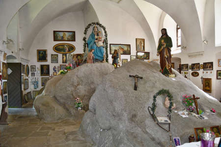 interior of the chapel at the pilgrimage church of Our Lady of the Snows in the Holy Stone, Czech Republic Redakční