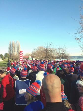 beanies: Ugly Sweater 5k run in Seattle, WA - winter 2013