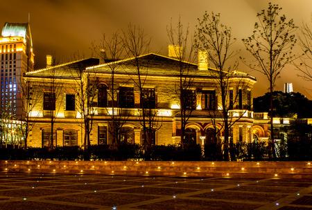 origin: Shanghai Bund origin at night