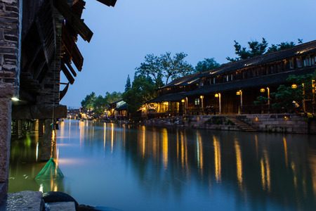 west gate: Ancient town of Wuzhen, Zhejiang West Gate night scenery
