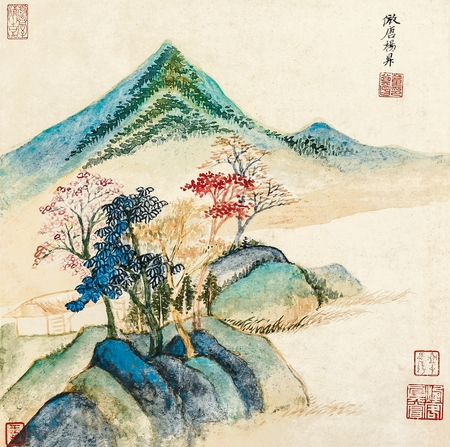 dong: Dong Qichang antique landscape painting