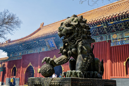 cloister: Yonghegong Lamasery Editorial