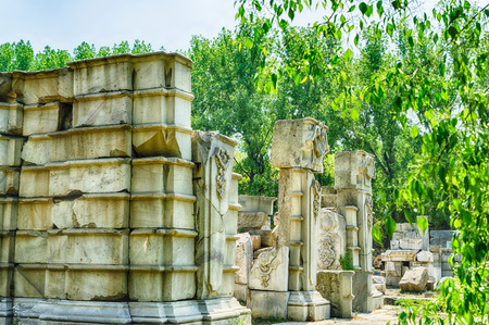 Beijing Old Summer Palace scenery Editorial