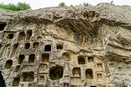 Longmen Grottoes, Luoyang, Henan Stock Photo