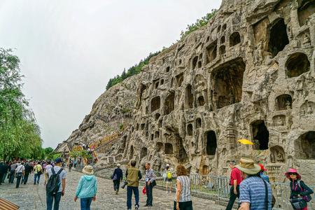 Longmen Grottoes at Luoyang, Henan.