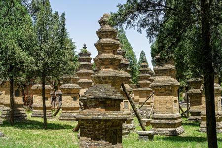 cloister: Shaolin Temple at Henan, Dengfeng, Songshan. Stock Photo