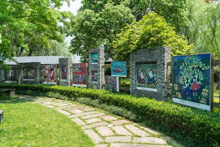 Shanghai Jinshan Fengjing painting village scenery Redakční