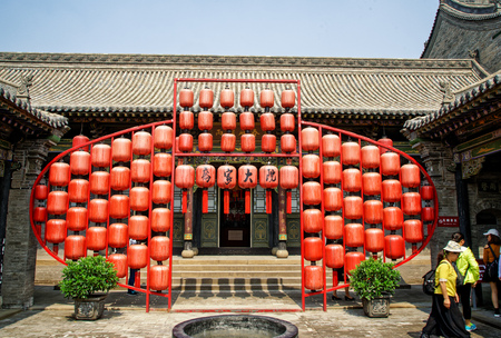 windows and doors: Exterior view of Qiaos family courtyard in Shanxi, China