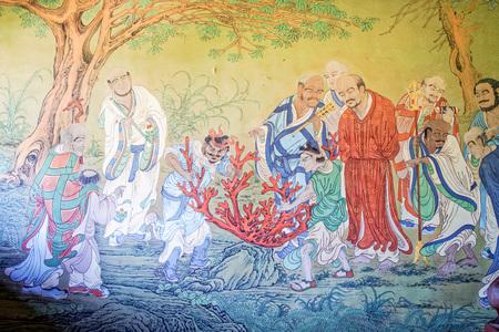 wall art in Shanxi Datong fahua Temple