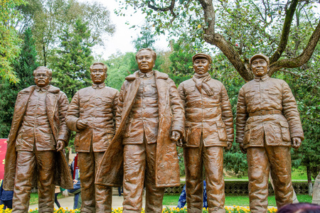 The revolutionary site of the jujube garden in Yanan, Shaanxi
