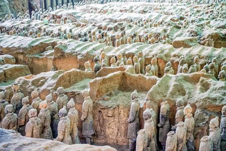 Terrakotta-Armeemuseum in Qin Shihuang, Xi'an, Shaanxi Editorial