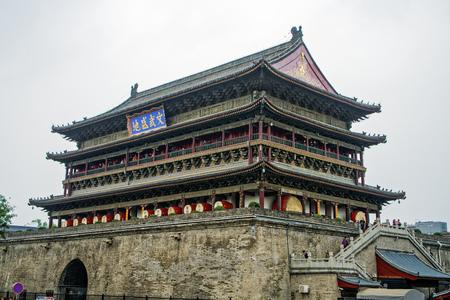 Xian Drum Tower, Shaanxi Editorial