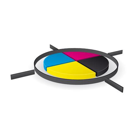 Color wheel icon.