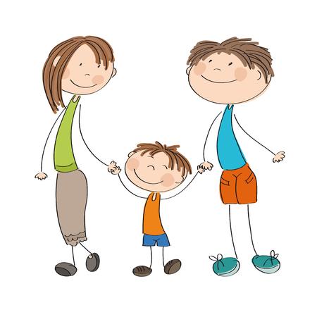 Happy family icon.