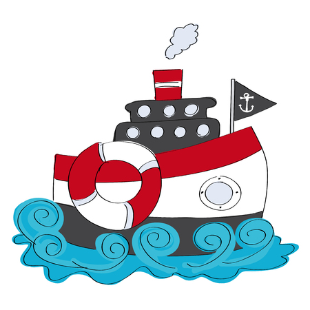 Ship icon. Illustration