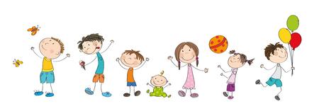 Happy kids icon.
