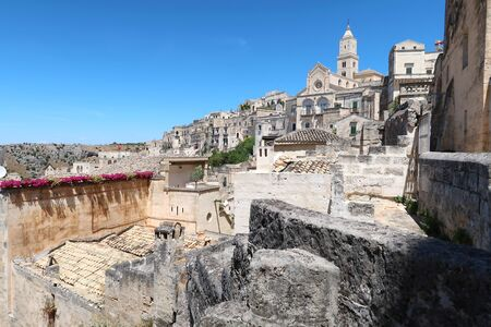View at the ancient town of Matera (Sassi di Matera), Basilicata, southern Italy Фото со стока