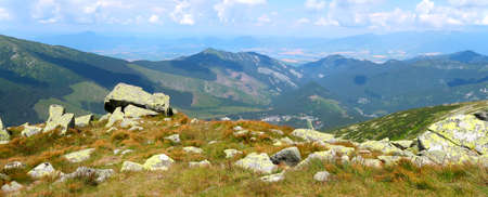 Landscape scenery - view of the Low Tatras (N