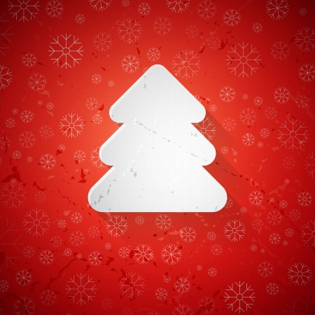 christmas tree made from paper  Vector
