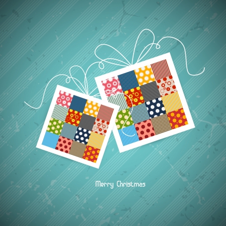x mas card: retro christmas greeting