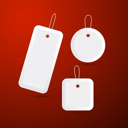 empty vector labels, tags, stickers with strings  Vector