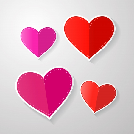 love symbols  hearts made from paper   Vector