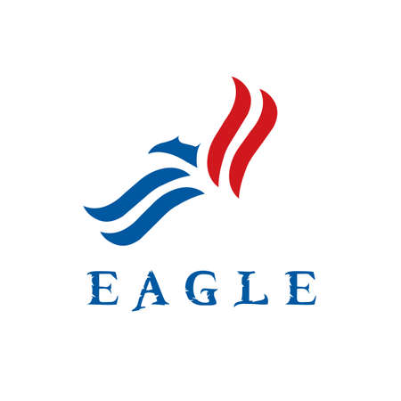 strong and sophisticated eagle bird idea logo concept, vector icon illustration inspiration sign