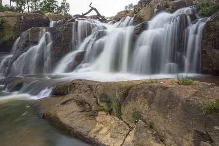 Amazing and Beautiful waterfall in Meghalaya North East India Stock fotó