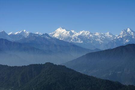 Himalayan view from the gangtok sikkim northeast india Reklamní fotografie