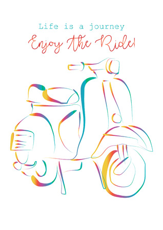 Life is a journey, enjoy the ride. Shirt design.