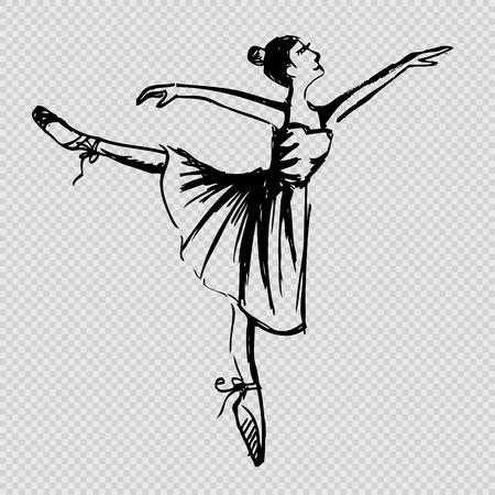 skecth: Ballerina dancer sketch Illustration