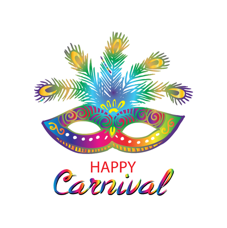 Happy Carnival Festive Concept Illustration