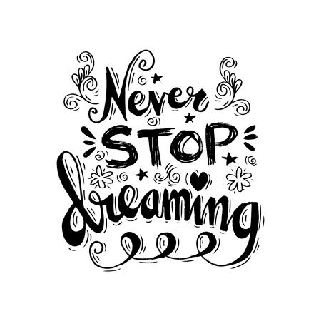 pila bautismal: Nunca deje de soñar con las letras de la mano