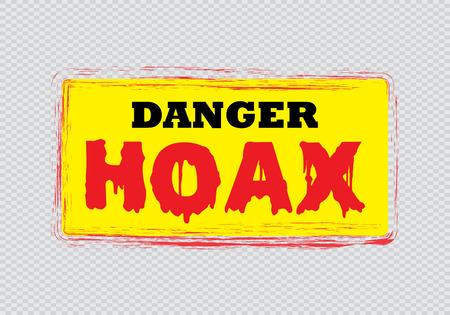 hoax: Denger hoax sign