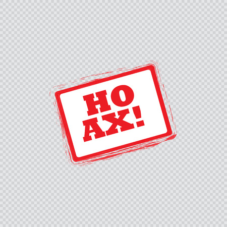 hoax: Hoax rubber stamp