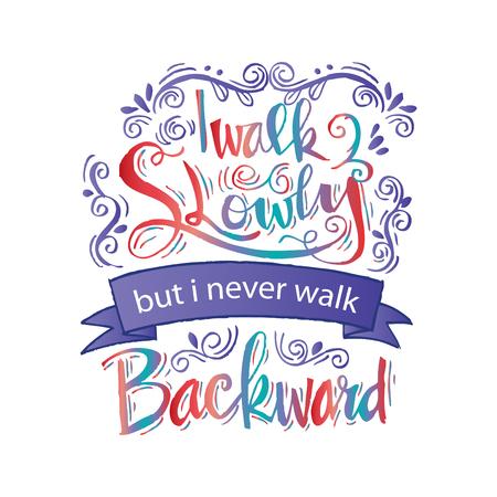 Inspirierend Zitat von Abraham Lincoln Vektorgrafik