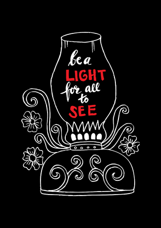Be a light for all to see motivational quote