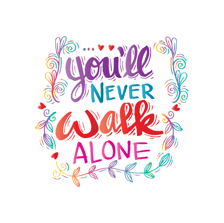 60 Never Alone Stock Vector Illustration And Royalty Free Never