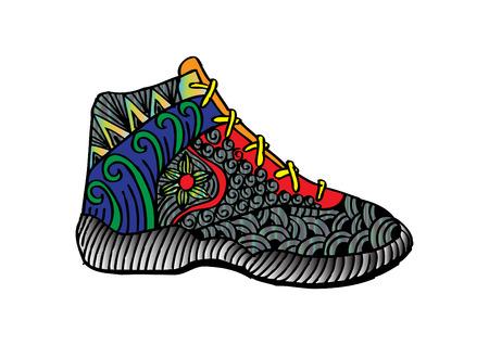 New modern shoes design Illustration