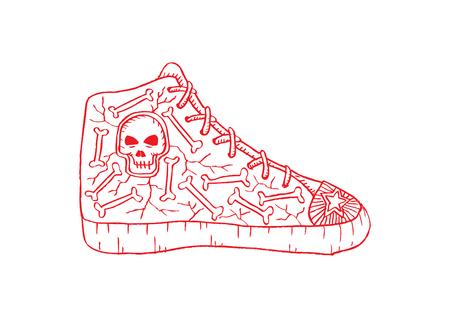 Doodle Shoes Illustration