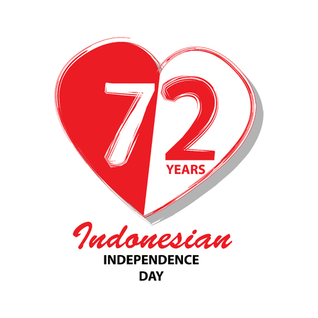 72 Years Indonesian Independence day logo Concept Ilustracja