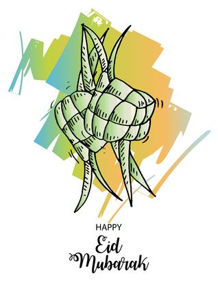 伊斯兰贺卡。EID穆巴拉克