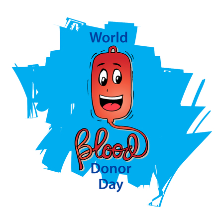 World Blood Donor Day concept Illustration