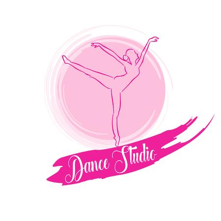 logo dance studio. Vector illustration.